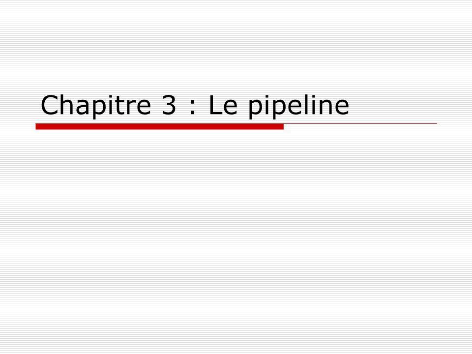 Chapitre 3 : Le pipeline