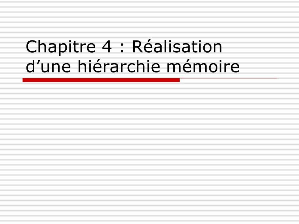 Chapitre 4 : Réalisation d'une hiérarchie mémoire