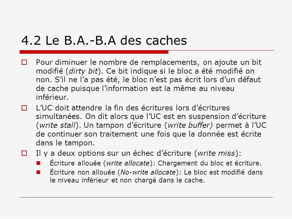 4.2 Le B.A.-B.A des caches