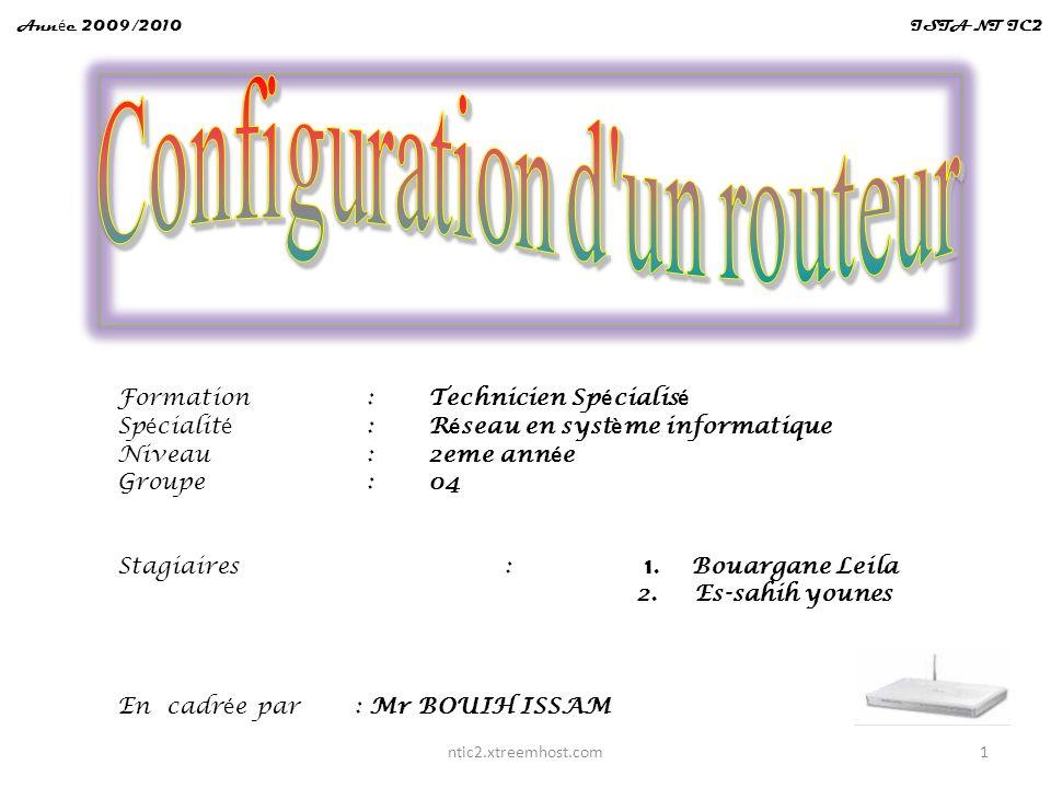 Configuration d un routeur