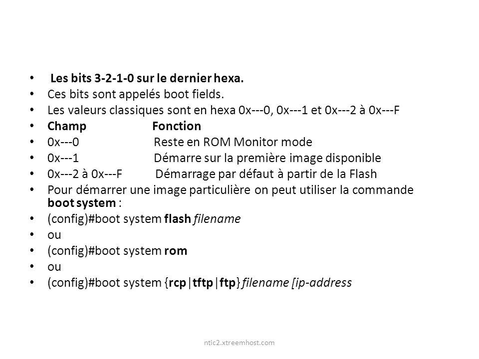 Les bits 3-2-1-0 sur le dernier hexa.