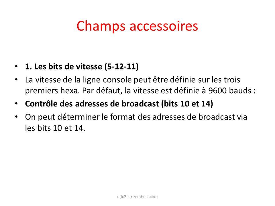 Champs accessoires 1. Les bits de vitesse (5-12-11)