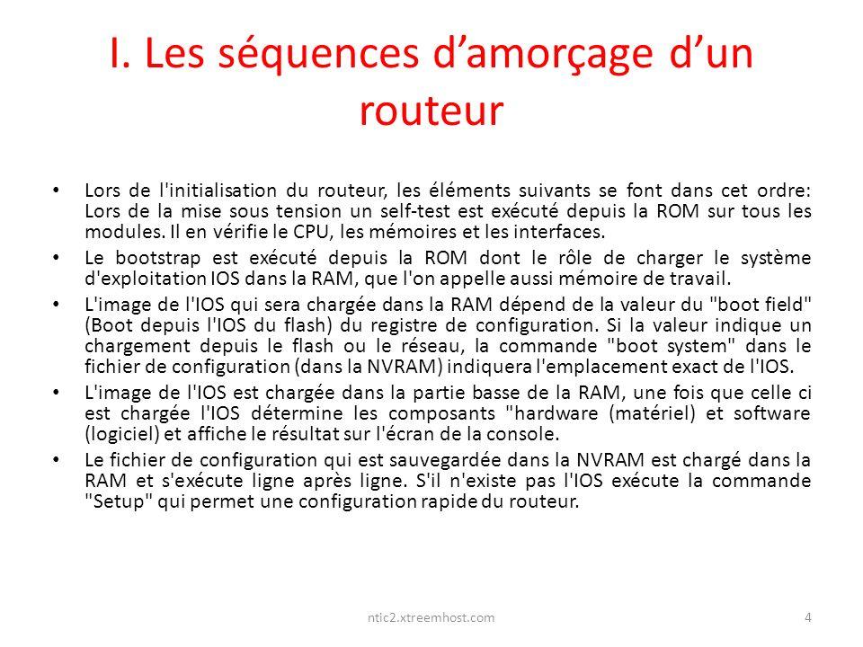 I. Les séquences d'amorçage d'un routeur