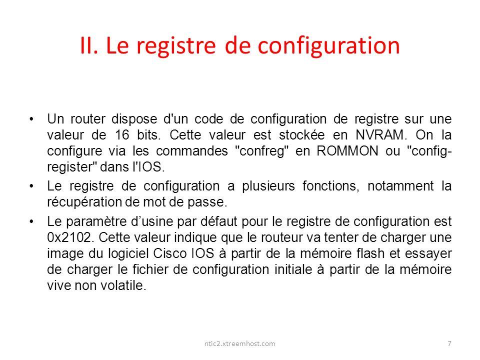 II. Le registre de configuration