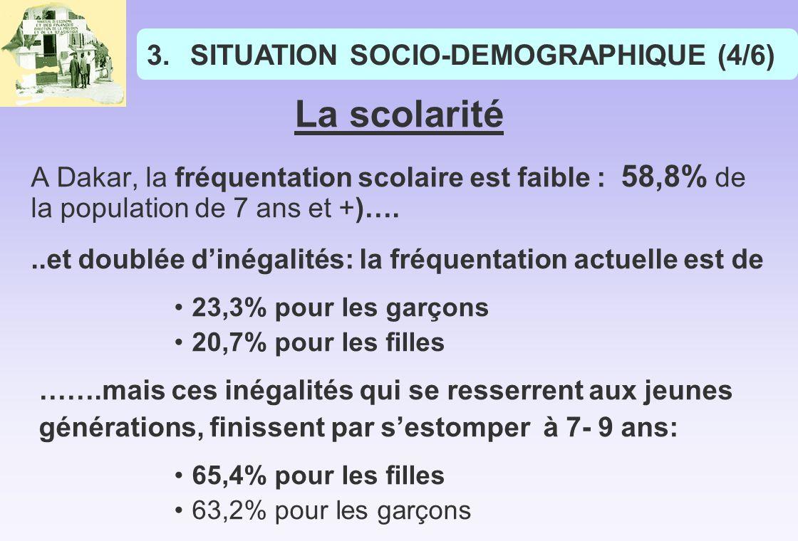 La scolarité SITUATION SOCIO-DEMOGRAPHIQUE (4/6)