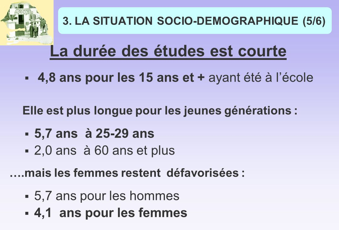 LA SITUATION SOCIO-DEMOGRAPHIQUE (5/6)