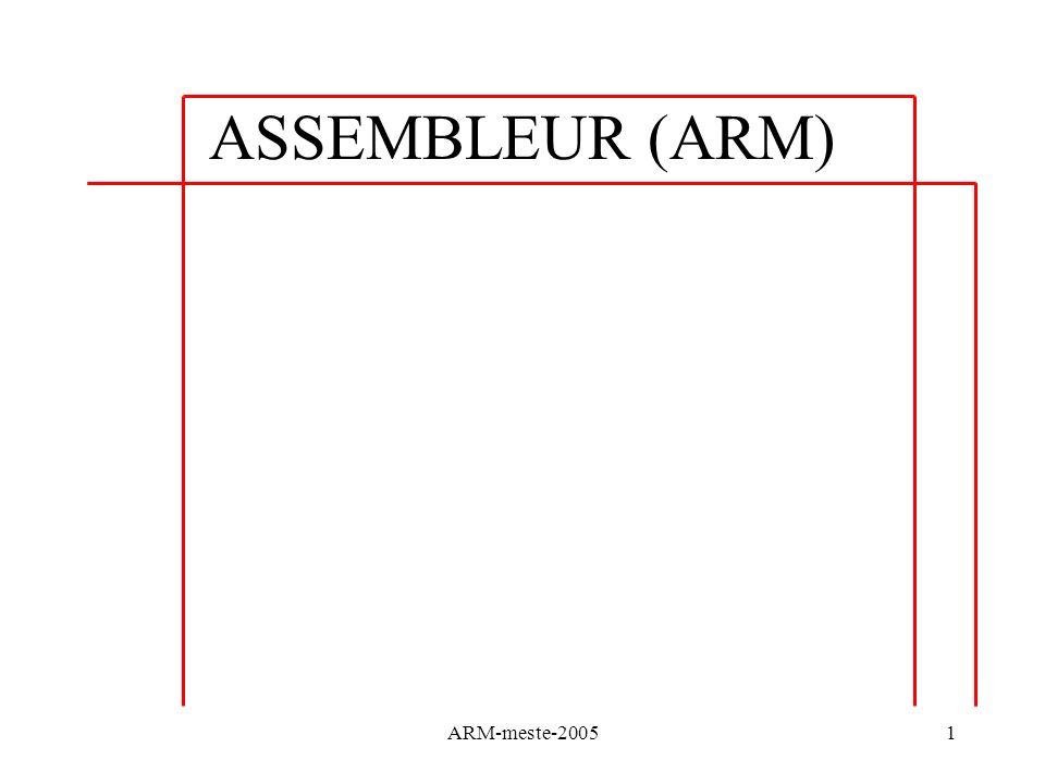 ASSEMBLEUR (ARM) ARM-meste-2005