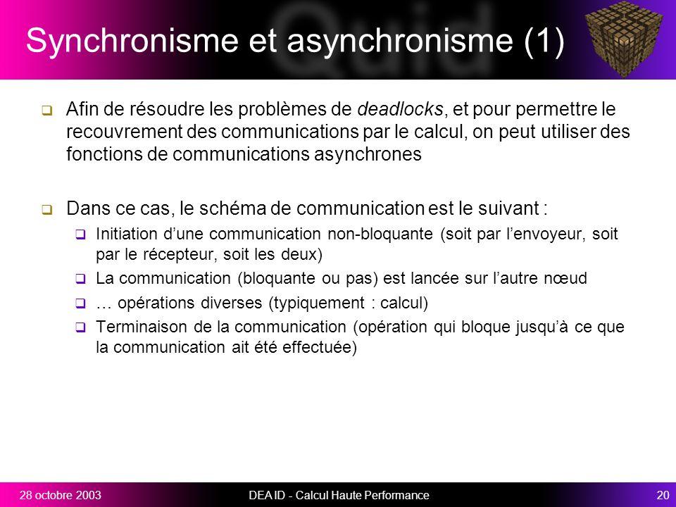 Synchronisme et asynchronisme (1)