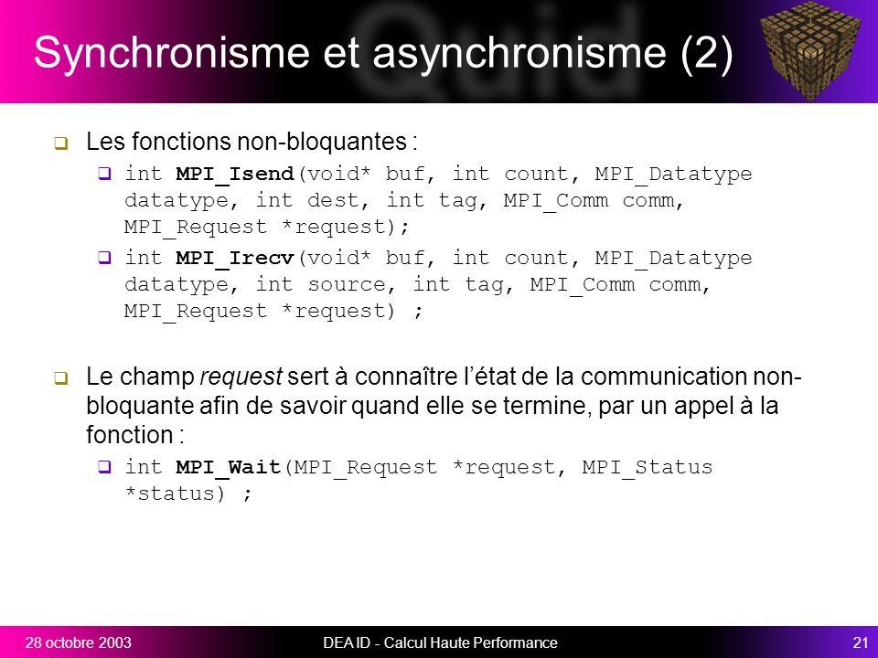 Synchronisme et asynchronisme (2)