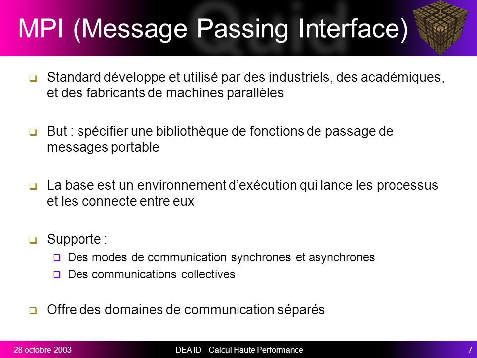 MPI (Message Passing Interface)