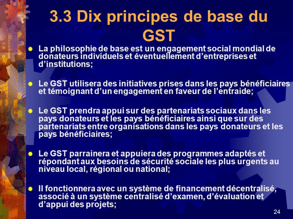 3.3 Dix principes de base du GST