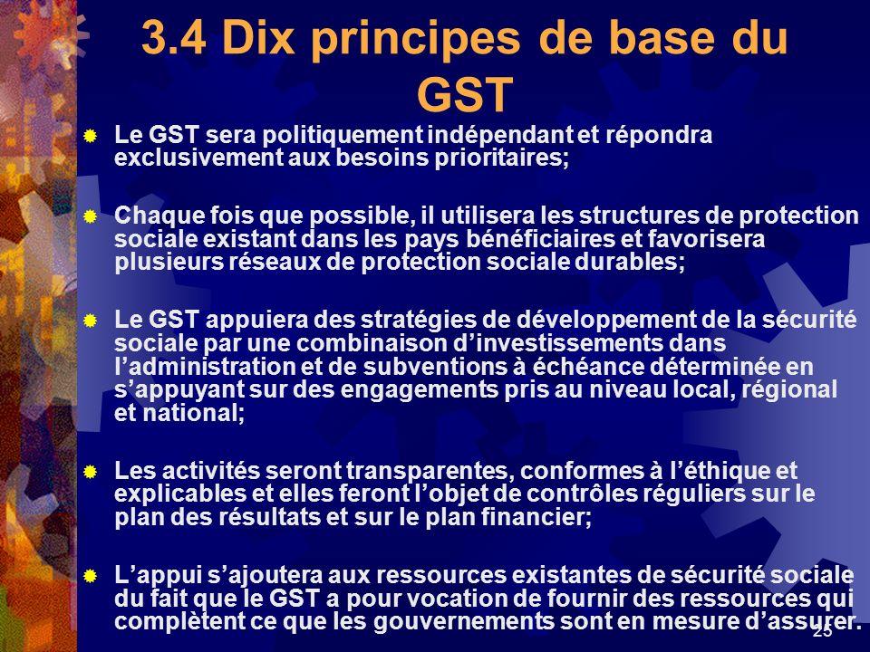 3.4 Dix principes de base du GST