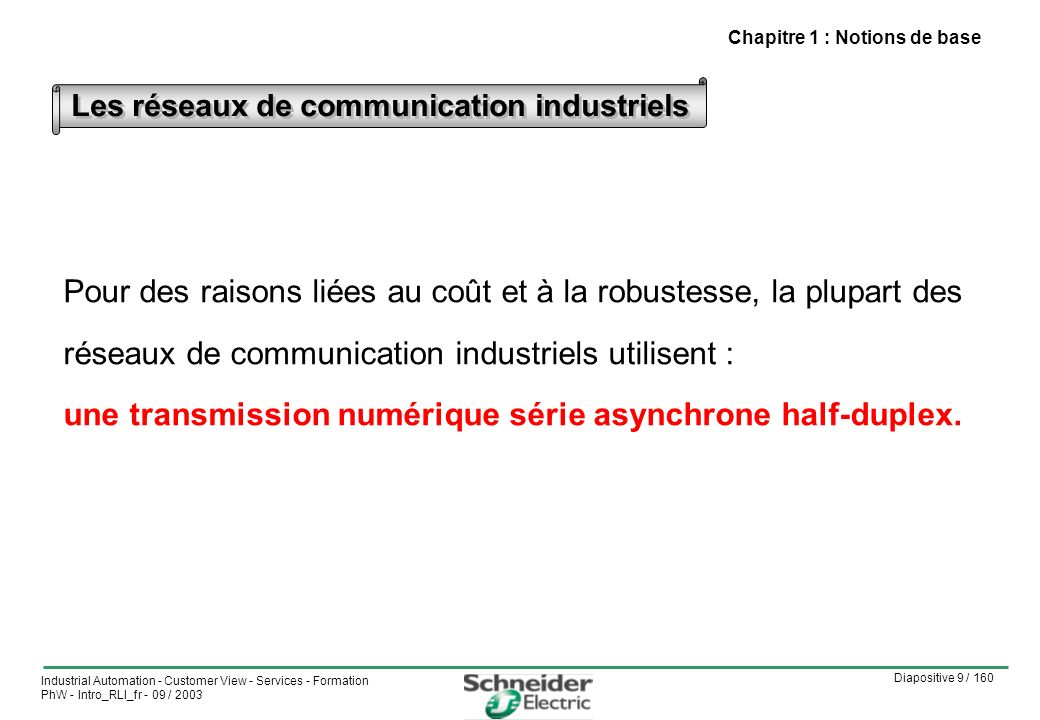 Les réseaux de communication industriels
