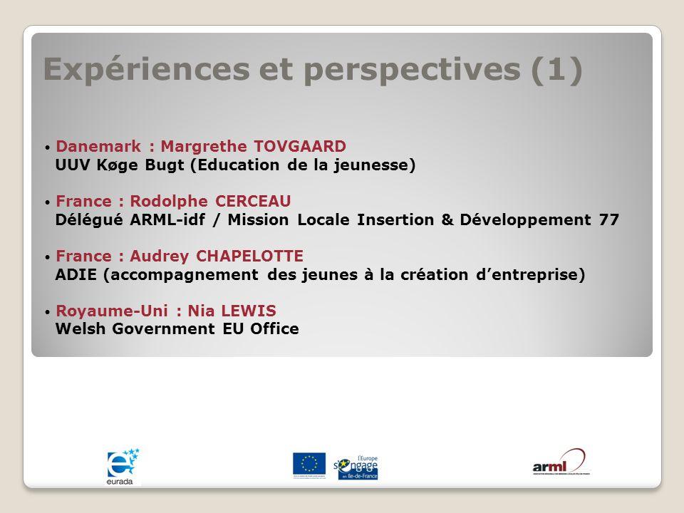 Expériences et perspectives (1)