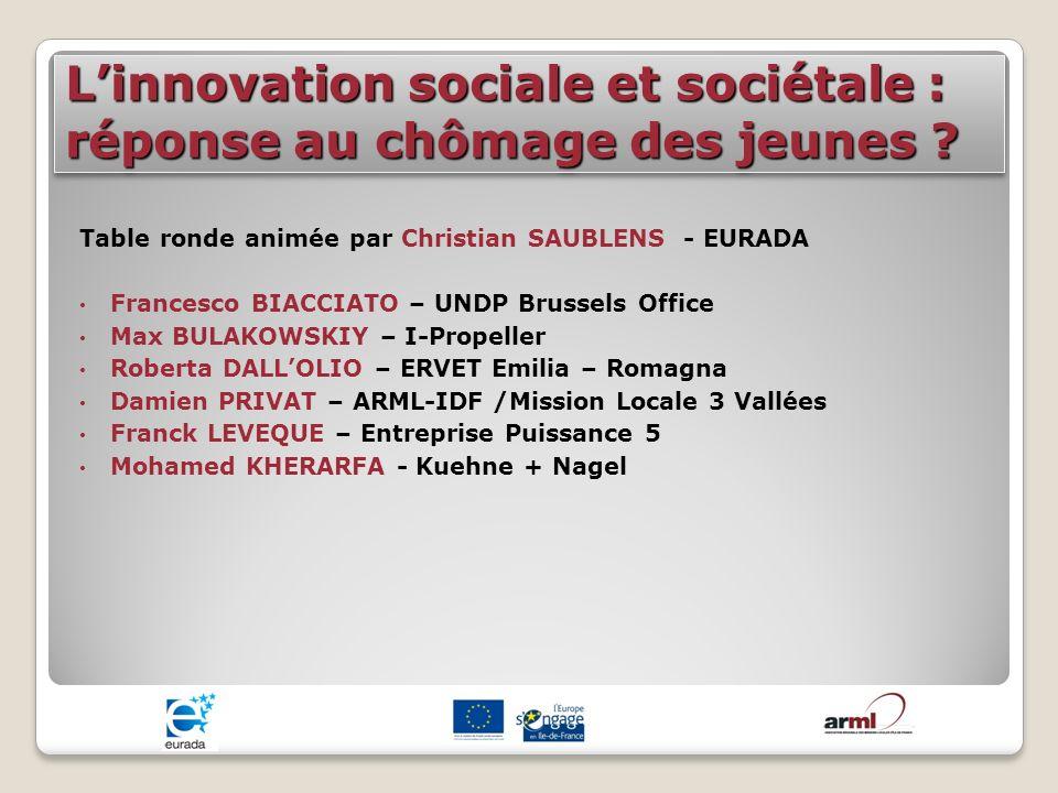 L'innovation sociale et sociétale : réponse au chômage des jeunes