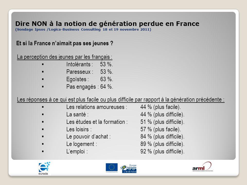 Dire NON à la notion de génération perdue en France