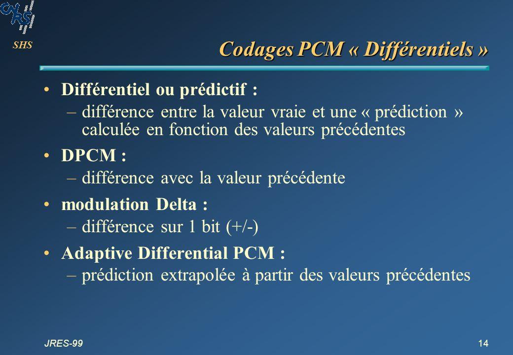 Codages PCM « Différentiels »