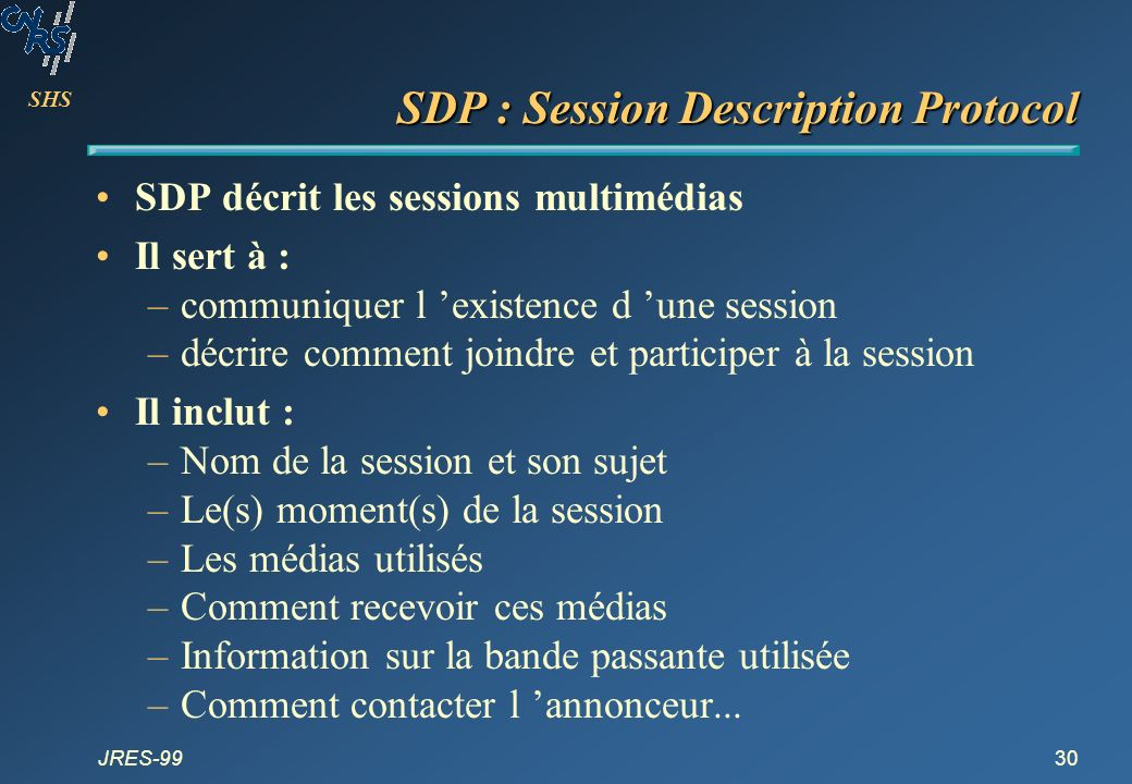 SDP : Session Description Protocol