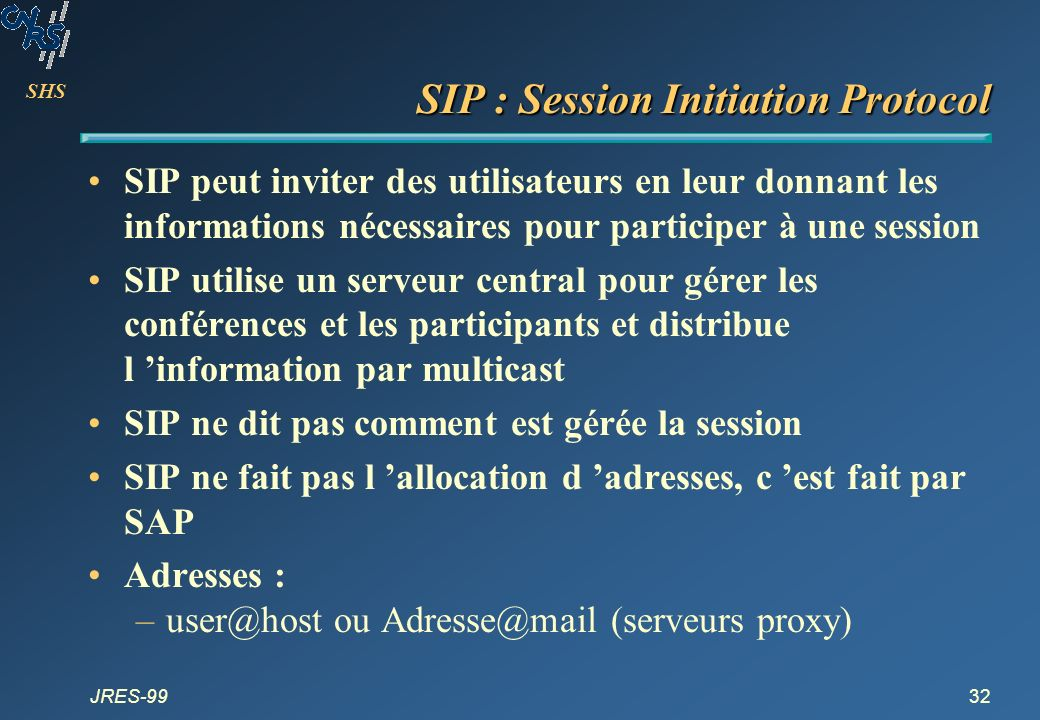 SIP : Session Initiation Protocol