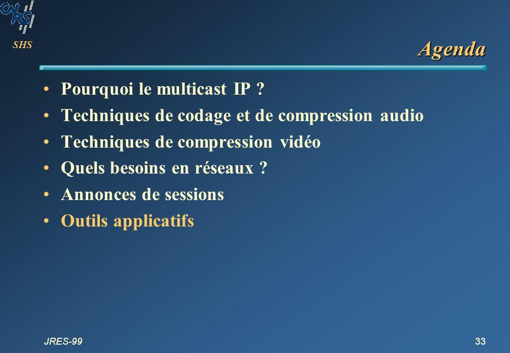 Agenda Pourquoi le multicast IP