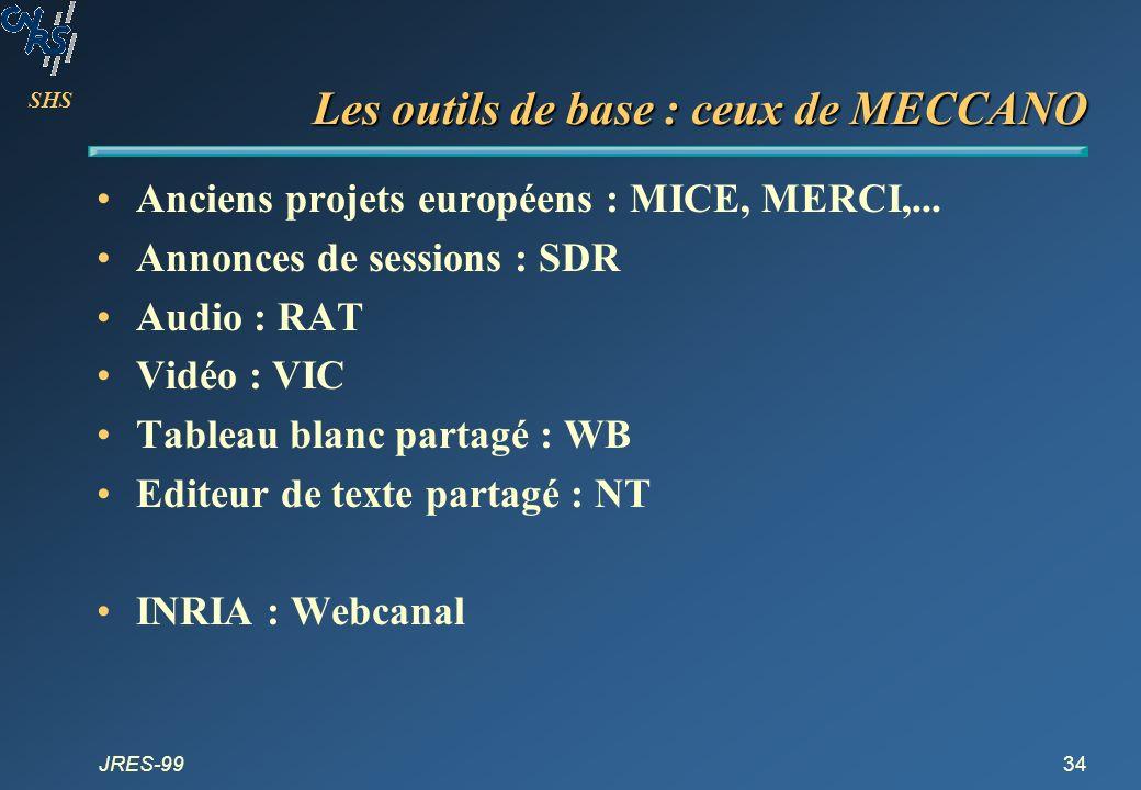 Les outils de base : ceux de MECCANO