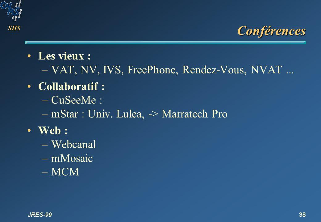 Conférences Les vieux : VAT, NV, IVS, FreePhone, Rendez-Vous, NVAT ...