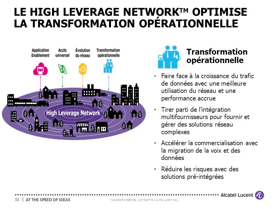 LE HIGH LEVERAGE NETWORKTM OPTIMISE LA TRANSFORMATION OPÉRATIONNELLE