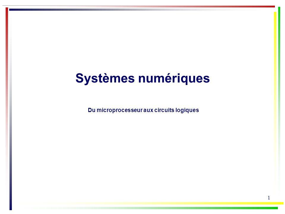 Systèmes numériques Du microprocesseur aux circuits logiques
