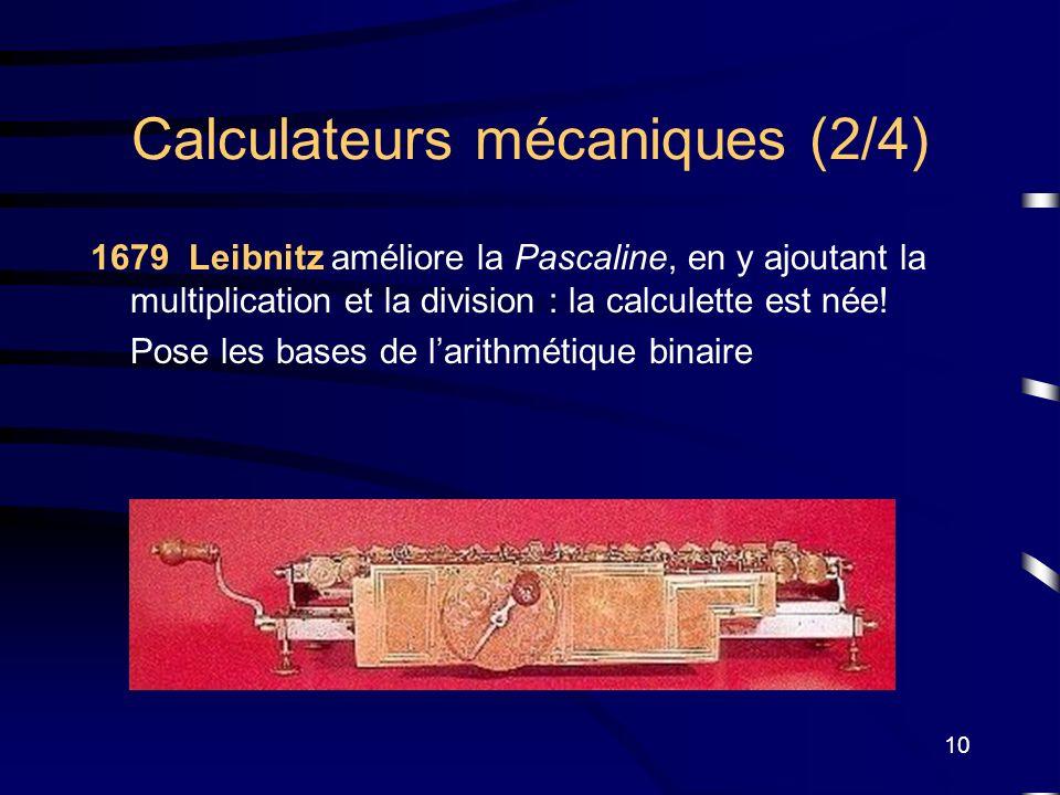 Calculateurs mécaniques (2/4)