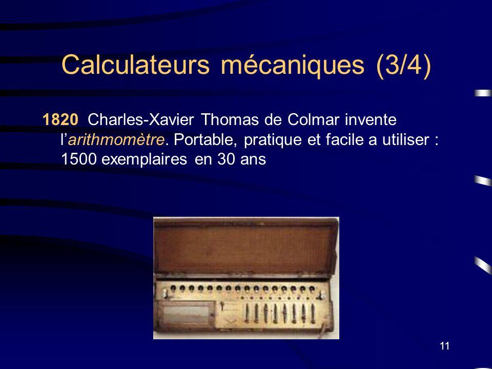 Calculateurs mécaniques (3/4)
