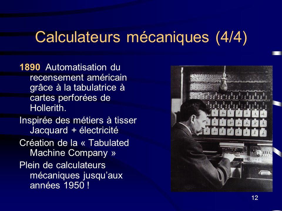 Calculateurs mécaniques (4/4)
