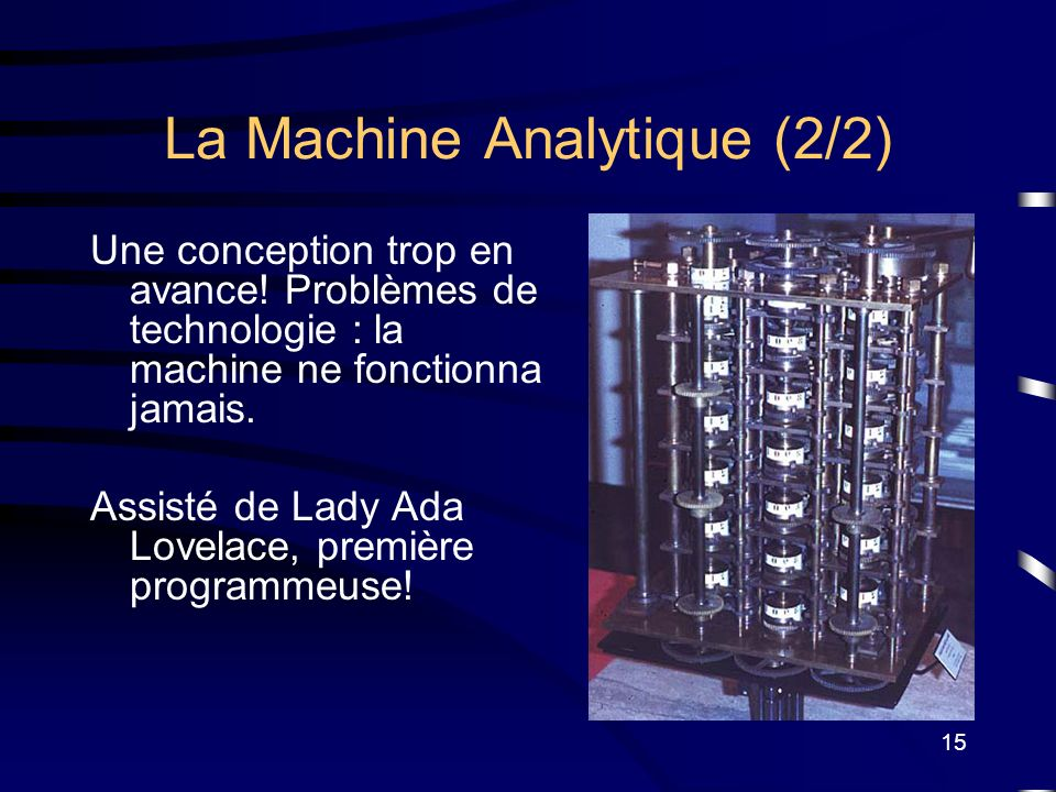 La Machine Analytique (2/2)