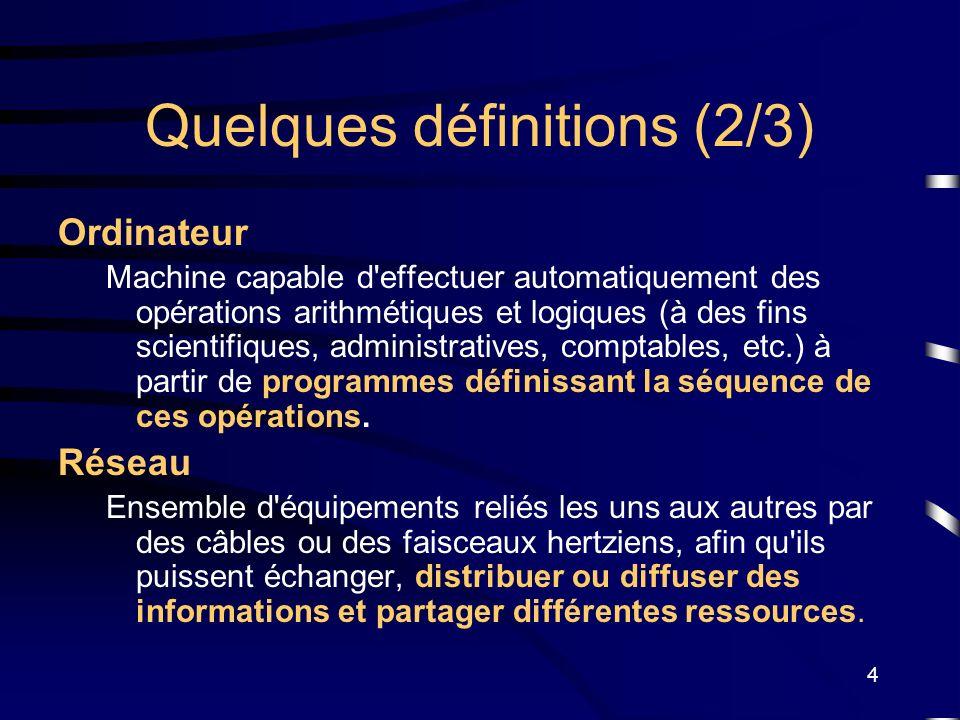 Quelques définitions (2/3)
