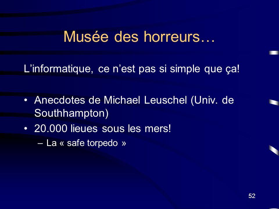 Musée des horreurs… L'informatique, ce n'est pas si simple que ça!