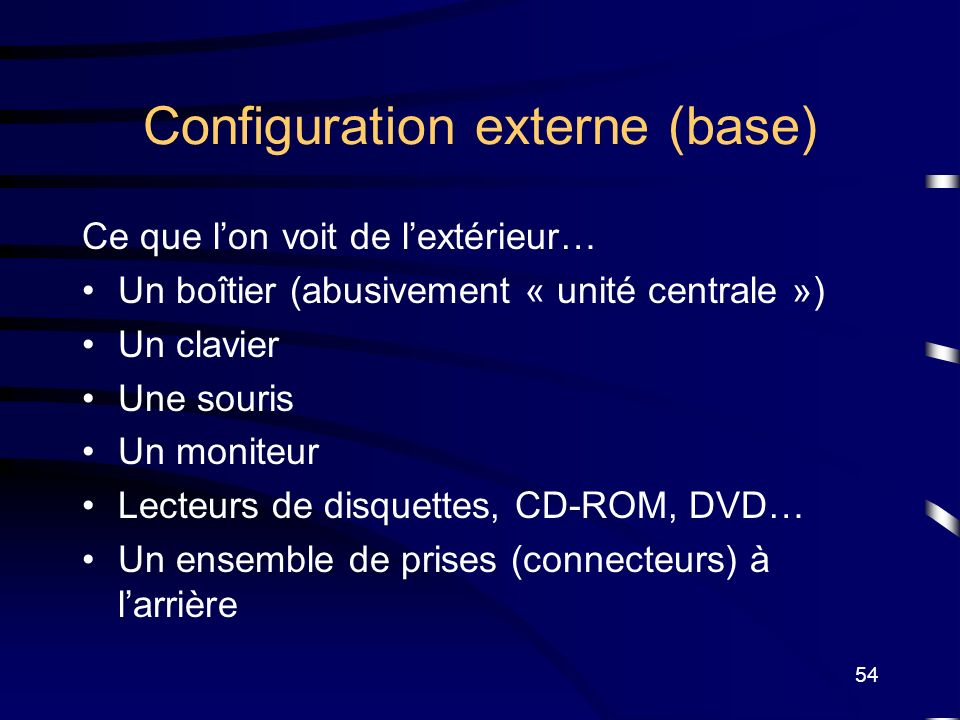 Configuration externe (base)