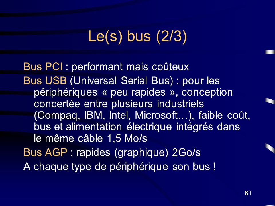 Le(s) bus (2/3) Bus PCI : performant mais coûteux