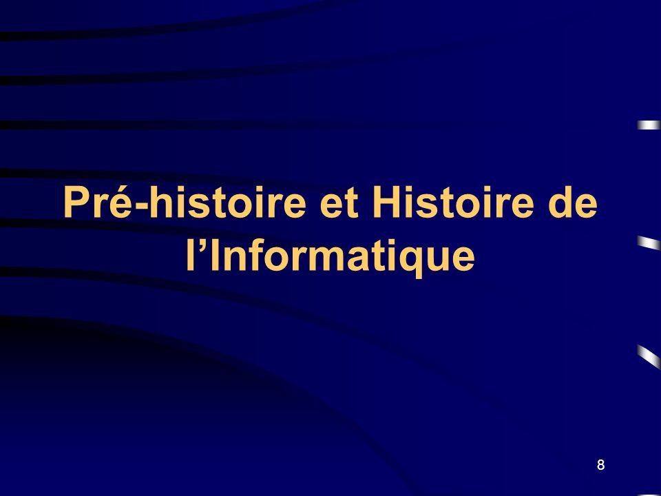 Pré-histoire et Histoire de l'Informatique