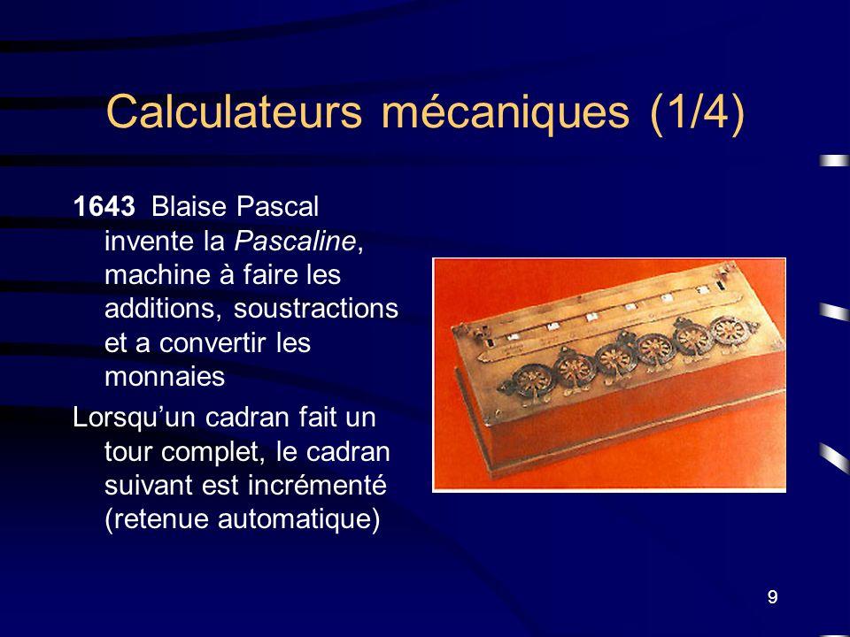 Calculateurs mécaniques (1/4)