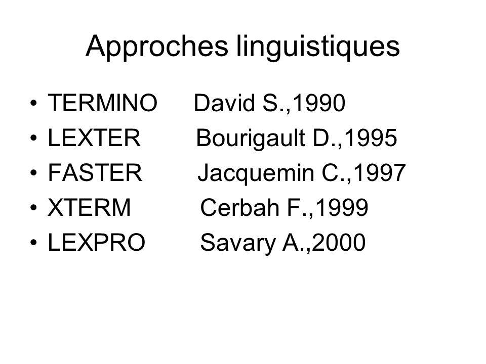 Approches linguistiques