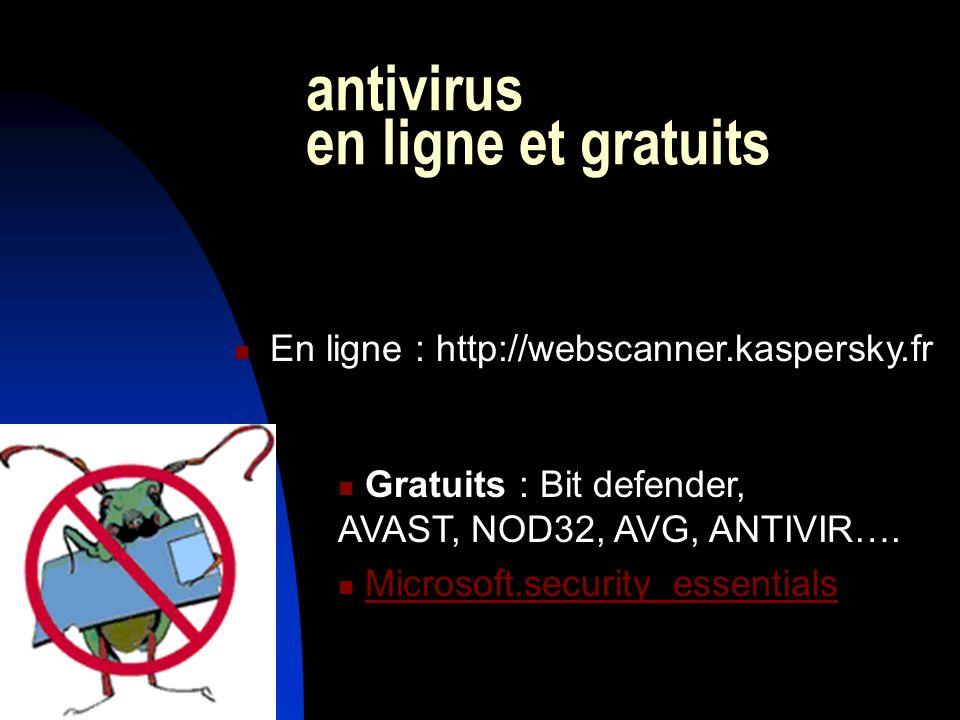 antivirus en ligne et gratuits