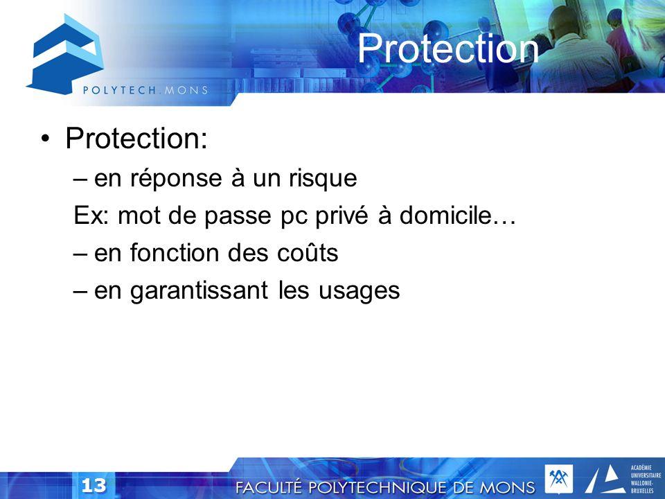 Protection Protection: en réponse à un risque