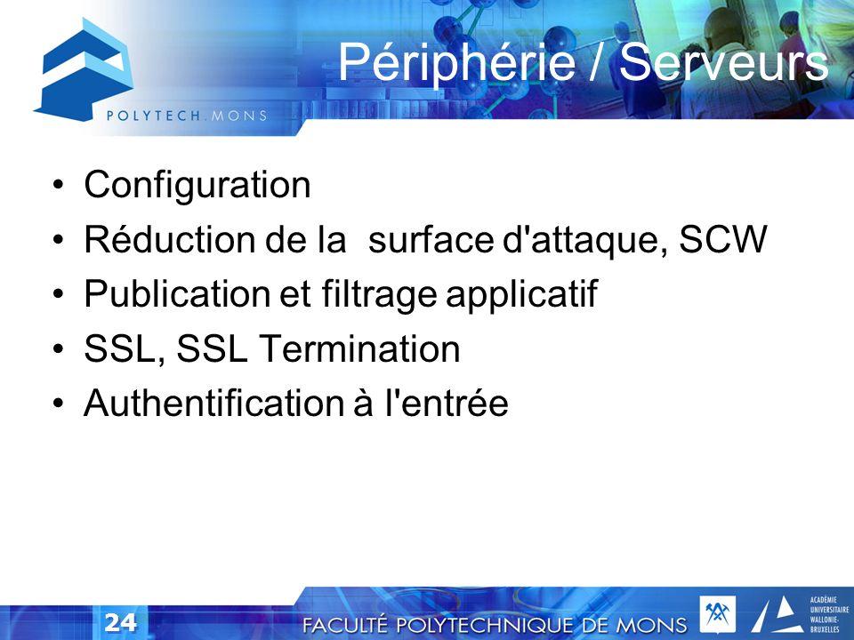 Périphérie / Serveurs Configuration