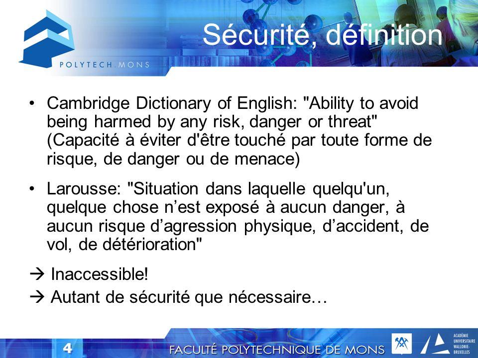 Sécurité, définition
