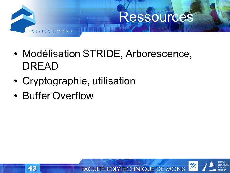 Ressources Modélisation STRIDE, Arborescence, DREAD