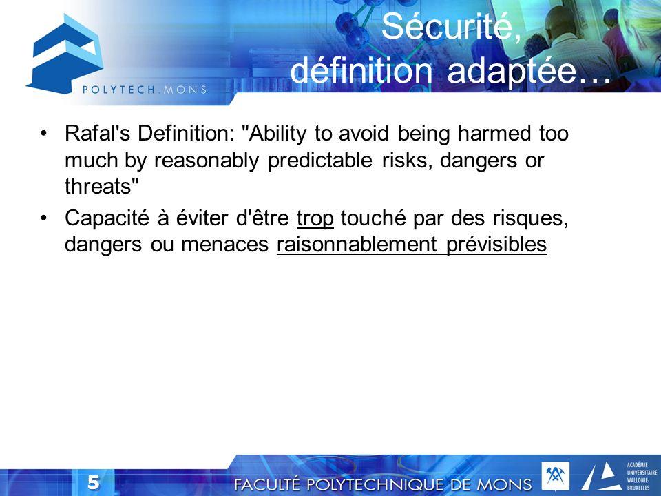 Sécurité, définition adaptée…