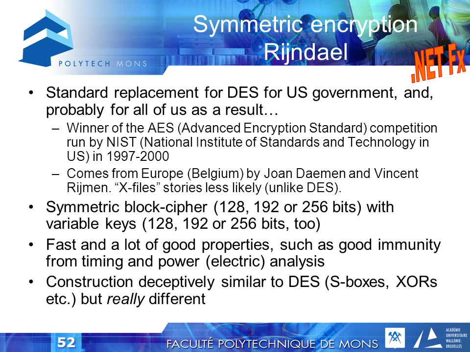 Symmetric encryption Rijndael