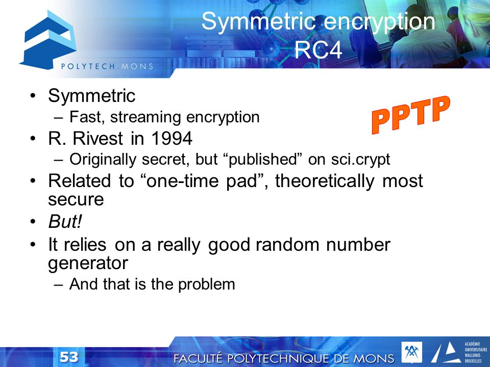 Symmetric encryption RC4
