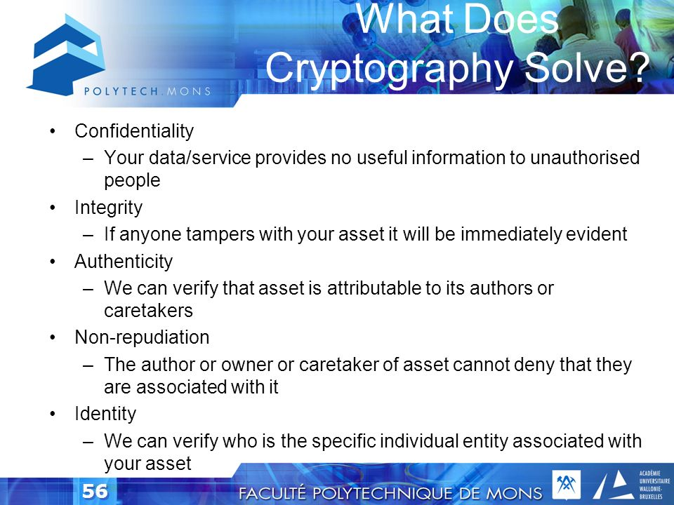 What Does Cryptography Solve