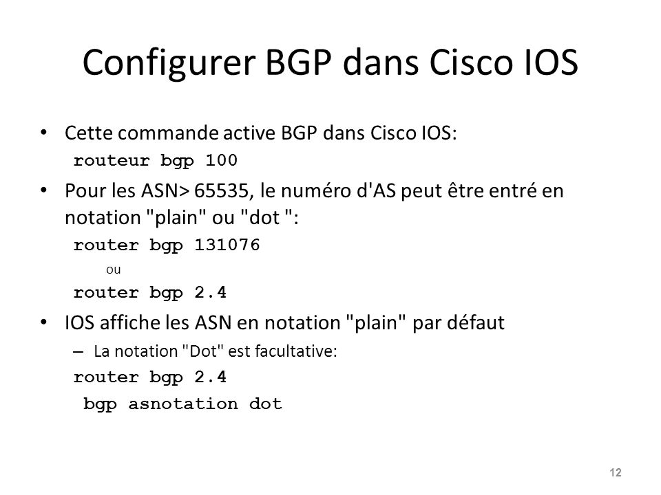 Configurer BGP dans Cisco IOS