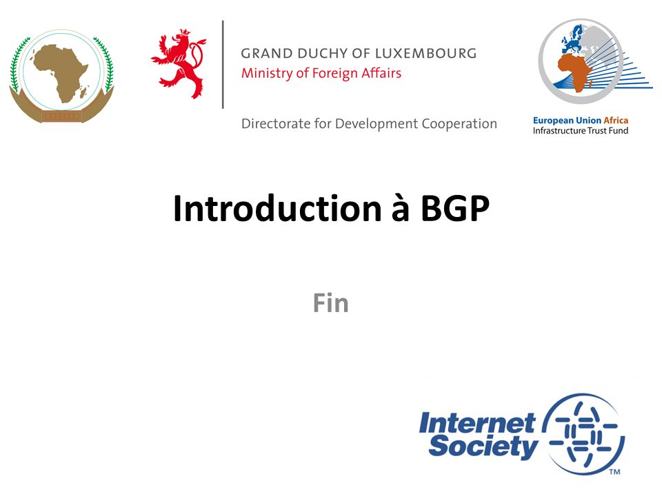Introduction à BGP Fin